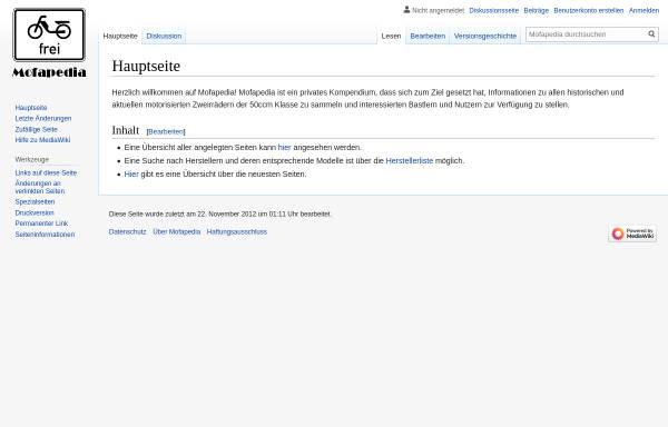 Vorschau von www.mofapedia.de, Mofapedia