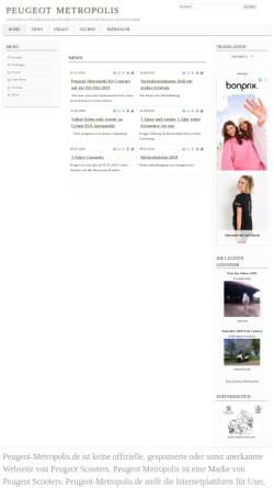 Vorschau der mobilen Webseite www.peugeot-metropolis.de, Peugeot Metropolis