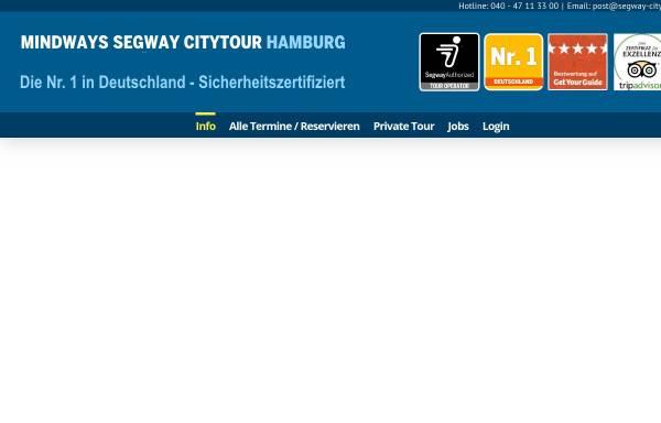 Vorschau von www.segway-citytour.de, Mindways Segway Citytour