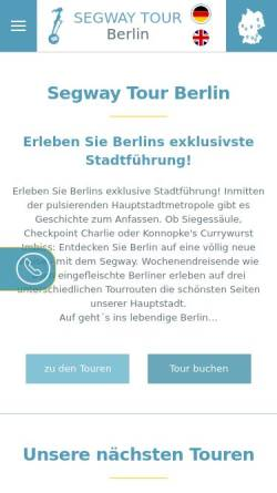 Vorschau der mobilen Webseite www.seg-tour-berlin.de, Segway Tour Berlin