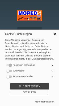 Vorschau der mobilen Webseite www.mopeds-kitzen.de, Mopeds Kitzen
