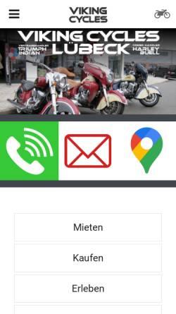 Vorschau der mobilen Webseite www.viking-cycles.de, Viking Cycles GmbH Lübeck