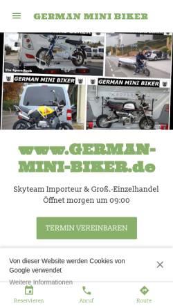 Vorschau der mobilen Webseite german-mini-biker.de, German Mini Biker by KFZ Import Mayer