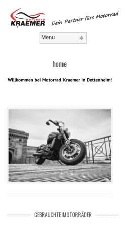 Vorschau der mobilen Webseite www.motorrad-kraemer.de, Motorrad Kraemer