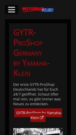Vorschau der mobilen Webseite www.motorradklein.de, Motorrad Klein