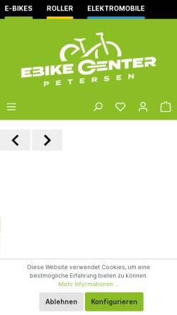 Vorschau der mobilen Webseite www.zweirad-petersen.de, Zweirad Petersen