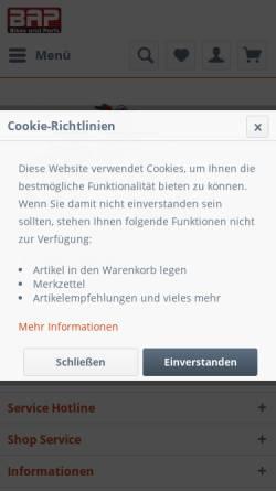 Vorschau der mobilen Webseite www.bikesandparts.biz, Bikes and Parts Inh. Stefan Dietzel