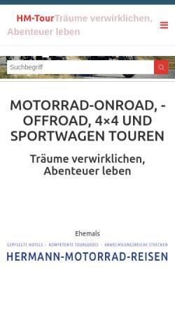 Vorschau der mobilen Webseite www.hermann-motorrad-reisen.de, Hermann-Motorrad-Reisen