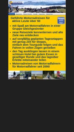Vorschau der mobilen Webseite www.youngtimer-motorradreisen.de, Youngtimer-Motorradreisen GbR