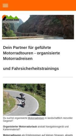 Vorschau der mobilen Webseite www.motorrad-helden.eu, Motorrad-Helden - Stefan Sack