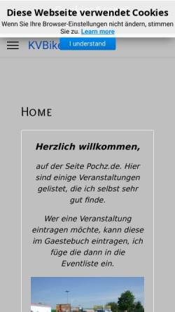 Vorschau der mobilen Webseite www.pochz.de, KVBiker Cologne