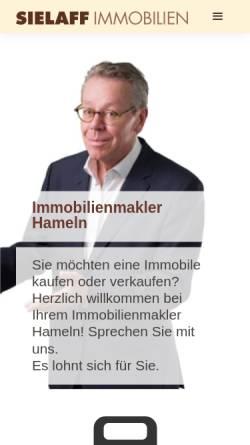 Vorschau der mobilen Webseite www.sielaffimmobilien.de, Sielaff Immobilien