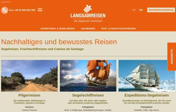 Vorschau von www.langsamreisen.de, Langsamreisen, Arne Gudde