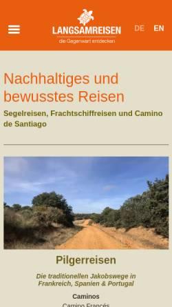 Vorschau der mobilen Webseite www.langsamreisen.de, Langsamreisen, Arne Gudde