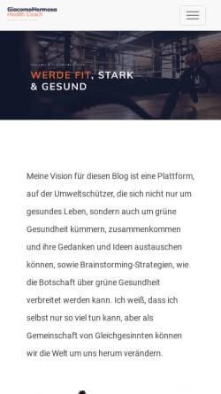 Vorschau der mobilen Webseite www.hermosa.ch, Hermosa Sprachaufenthalte