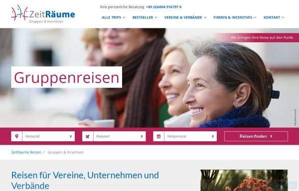 Vorschau von www.zeitraeume-reisen.de, ZeitRäume - Urlaub Studien Reisen GmbH