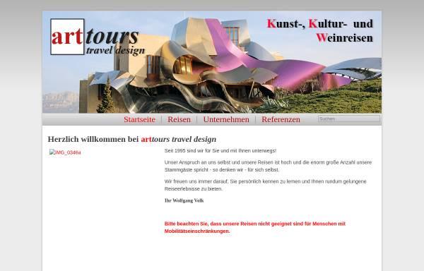 Vorschau von www.arttours.de, arttours - Gesellschaft für Studienreisen mbH