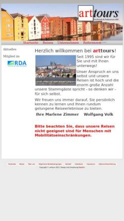 Vorschau der mobilen Webseite www.arttours.de, arttours - Gesellschaft für Studienreisen mbH