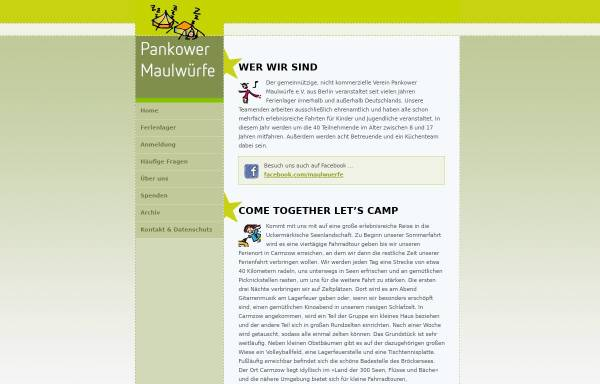 Vorschau von www.pankower-maulwuerfe.de, Pankower Maulwürfe e.V.