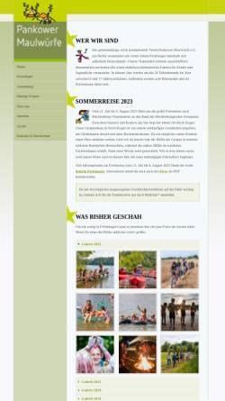 Vorschau der mobilen Webseite www.pankower-maulwuerfe.de, Pankower Maulwürfe e.V.