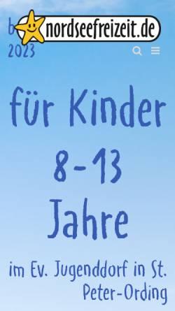 Vorschau der mobilen Webseite www.nordseefreizeit.de, Ferienreisen an die Nordsee des Kreisjugendring Pfaffenhofen