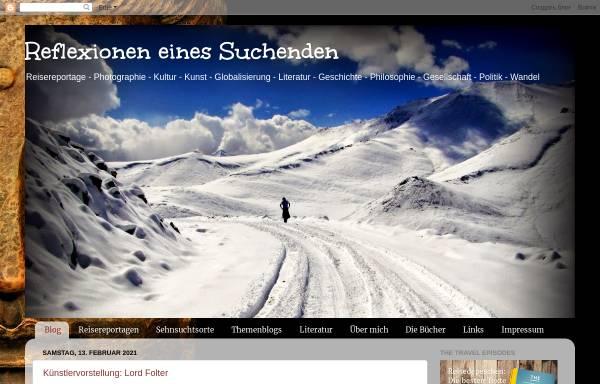 Vorschau von reflexioneneinessuchenden.blogspot.com, Reflexionen eines Suchenden [Oleander Auffarth]