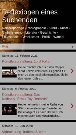 Vorschau der mobilen Webseite reflexioneneinessuchenden.blogspot.com, Reflexionen eines Suchenden [Oleander Auffarth]