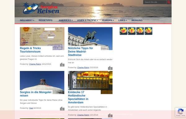 Vorschau von www.sorglosreisen.com, Sorglos Reisen [Charles Rahm]