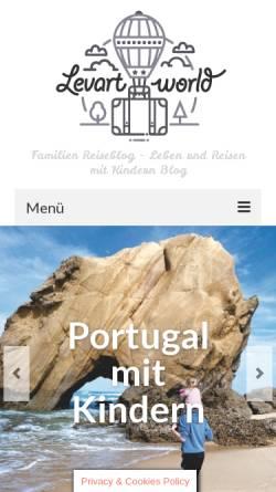 Vorschau der mobilen Webseite levartworld.de, Levart World - Reisen mit Kind [Alexandra und Erik]