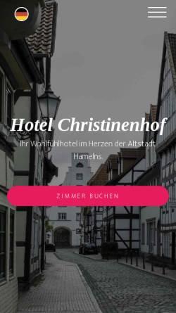 Vorschau der mobilen Webseite christinenhof.de, Hotel Christinenhof