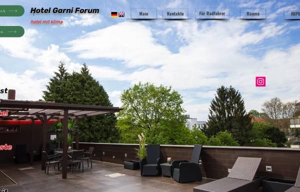 Vorschau von www.hotel-garni-forum.com, Hotel Garni Forum
