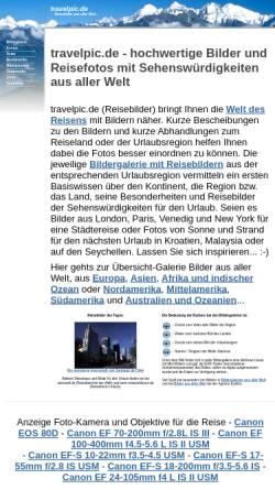 Vorschau der mobilen Webseite www.travelpic.de, Travelpic