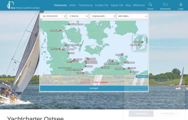 Vorschau von www.pc-ostsee.de, Privat Charter Ostsee GmbH