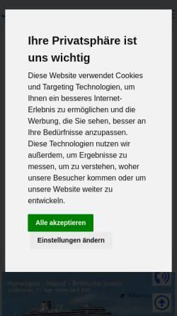 Vorschau der mobilen Webseite www.mykreuzfahrt.de, Meinecke Kreuzfahrten & Touristik GmbH