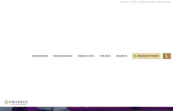 Vorschau von www.amadeus-flusskreuzfahrten.de, Amadeus Flusskreuzfahrten GmbH