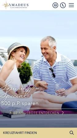 Vorschau der mobilen Webseite www.amadeus-flusskreuzfahrten.de, Amadeus Flusskreuzfahrten GmbH