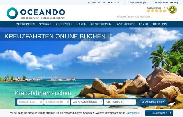 Vorschau von www.oceando.de, oceando OHG