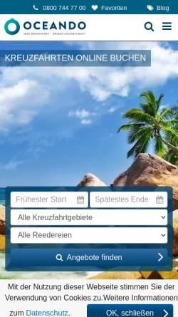 Vorschau der mobilen Webseite www.oceando.de, oceando OHG