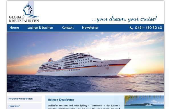 Vorschau von www.global-kreuzfahrten.de, Global Kreuzfahrten Service GmbH