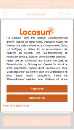 Vorschau der mobilen Webseite www.locasun.de, Locasun.de [Polyweb]