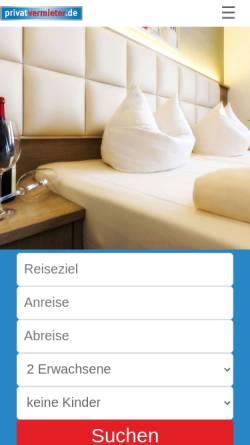 Vorschau der mobilen Webseite www.privatvermieter.de, Privatvermieter.de