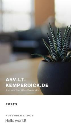 Vorschau der mobilen Webseite www.asv-lt-kemperdick.de, ASV-LT Kemperdick