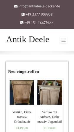 Antik Deele Becker Wirtschaftsdienste Antiquitäten Sammeln