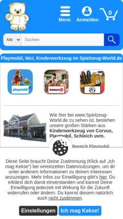 Vorschau der mobilen Webseite www.monchichi-world.de, Monchichi-World