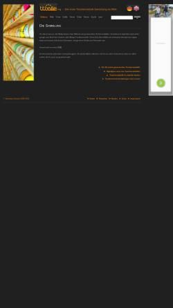 Vorschau der mobilen Webseite www.tischtennisbaelle.org, Die erste Tischtennisball-Sammlung im Web