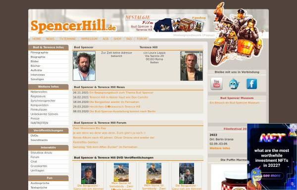Vorschau von www.spencerhill.de, Bud Spencer & Terence Hill Fanpage