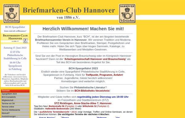 Vorschau von www.bch1886.de, Briefmarken-Club Hannover von 1886 e.V.
