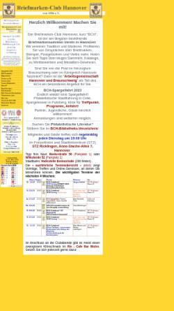 Vorschau der mobilen Webseite www.bch1886.de, Briefmarken-Club Hannover von 1886 e.V.