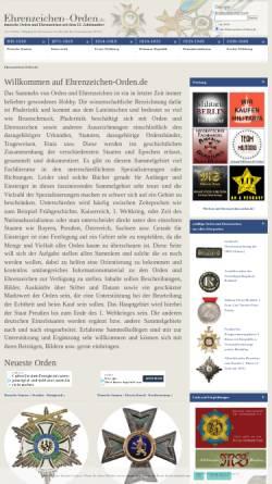 Vorschau der mobilen Webseite www.ehrenzeichen-orden.de, Deutsche Orden und Ehrenzeichen