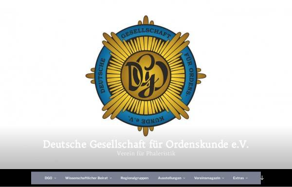 Vorschau von deutsche-gesellschaft-fuer-ordenskunde.de, Deutsche Gesellschaft für Ordenskunde e.V.